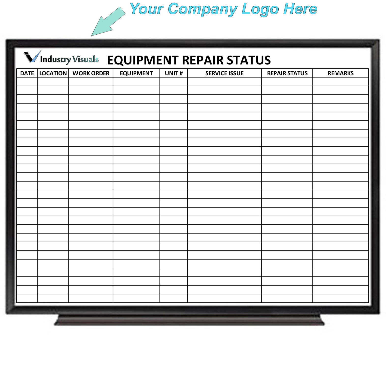 Maintenance Dry Erase Boards - Product categories - Industry Visuals